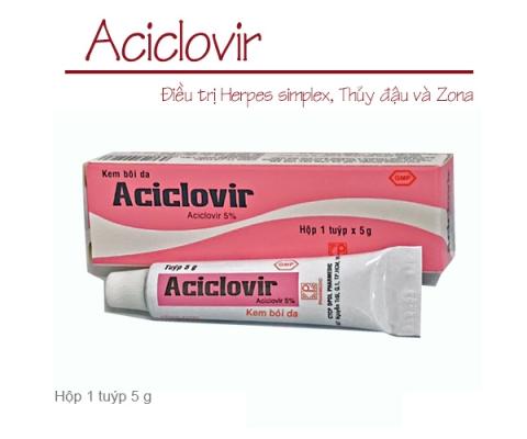 Thông báo mặt hàng mới: ACICLOVIR (tuýp kem 5 gam)